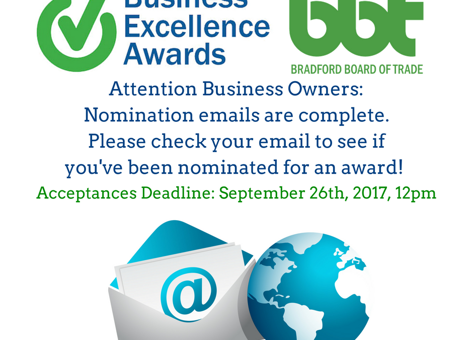 Business Excellence Award Nomination Acceptance Deadline