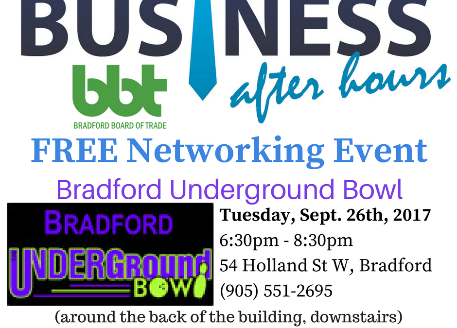 Business After Hours Event: Bradford Underground Bowl