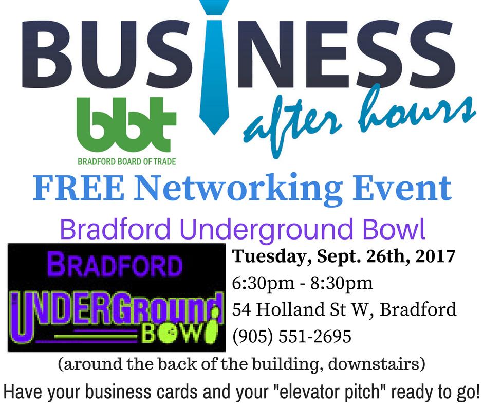 Business After Hours Event: Bradford Underground Bowl | Bradford ...